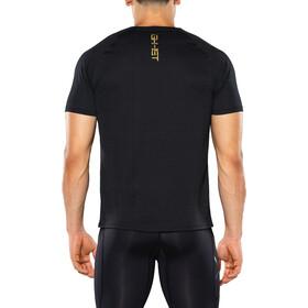 2XU GHST S/S Top Herre black print/gold